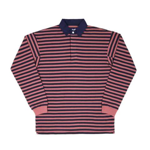 「即日発送可能!!」ONLY NY Striped Premium Knit Rugby Nautical Red ラガーシャツ