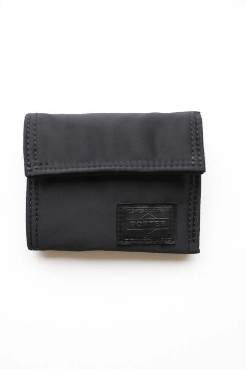 「ラスト1点!!」「即日発送可能!!」bal PORTER FLIGHT NYLON THIN WALLET BLACK Sサイズ