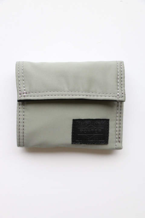 「ラスト1点!!」「即日発送可能!!」bal PORTER FLIGHT NYLON THIN WALLET Gray Sサイズ