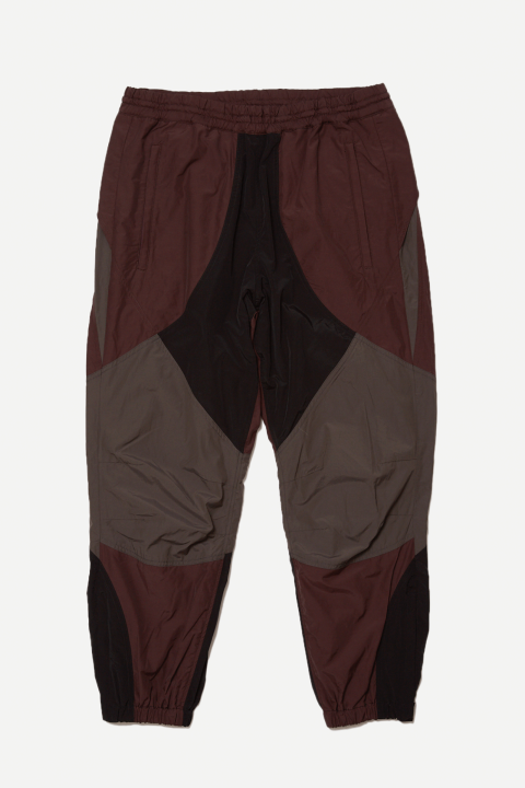 「ラスト1点!!」「即日発送可能!!」bal COLOR BLOCK NYLON TRACK PANT DARK BROWN