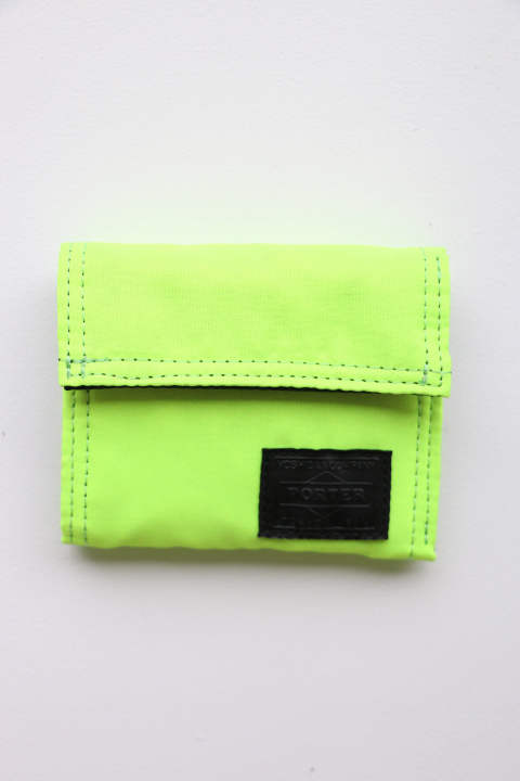 「ラスト1点!!」「即日発送可能!!」bal PORTER FLIGHT NYLON THIN WALLET NEON YELLOW Sサイズ