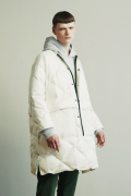 「ラスト1点!!」「即日発送可能!!」KIIT 20D NYLON NO COLLAR DOWN COAT WHITE