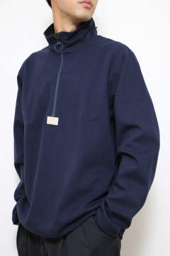 「ラスト1点!!」「即日発送可能!!」meanswhile Water-Repellent Breathe Cloth Mid Shirts/L2 Navy