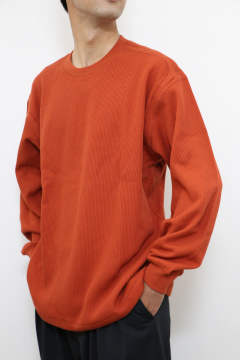 「即日発送可能!!」tone DOUBLE FACE SHIRT (CREW NECK) Deep Orange
