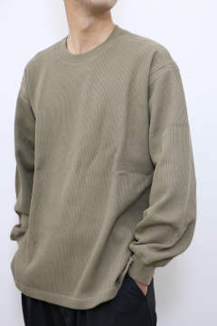 「即日発送可能!!」tone DOUBLE FACE SHIRT (CREW NECK) Olive