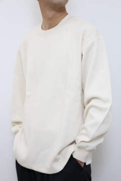 「即日発送可能!!」tone DOUBLE FACE SHIRT (CREW NECK) Natural
