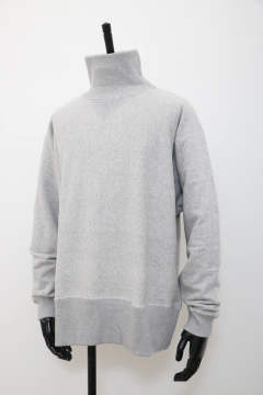 「ラスト1点!!」「即日発送可能!!」bunt LOOP WHEEL HI NECK SWEAT SHIRTS GRAY