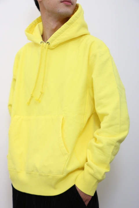 「ラスト1点!!」「即日発送可能!!」UNIVERSAL PRODUCTS YAAH PIECE DYED SWEAT HOODIE YELLOW