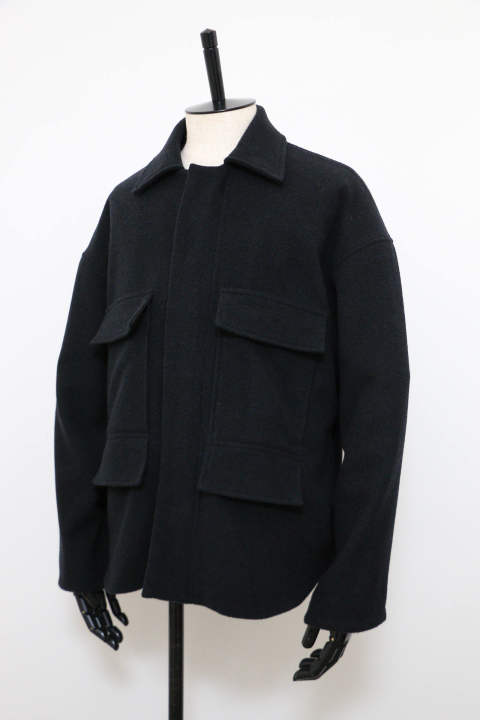 「即日発送可能!!」KIIT BALOON WOOL ZIP UP BLOUSON BLACK