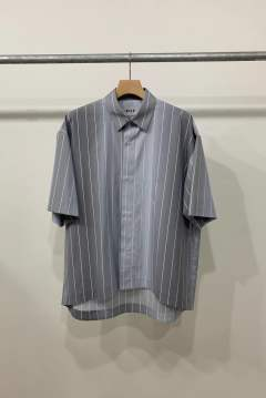 「先行予約品 ポイント10%還元!!」KIIT Striped Gradient Shirt GRAY SAX