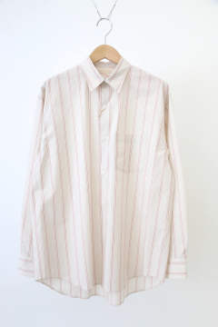 「ラスト1点!!」「即日発送可能!!」ULTERIOR OVERLAID STANDARD STRIPE SHIRT AKANE RED