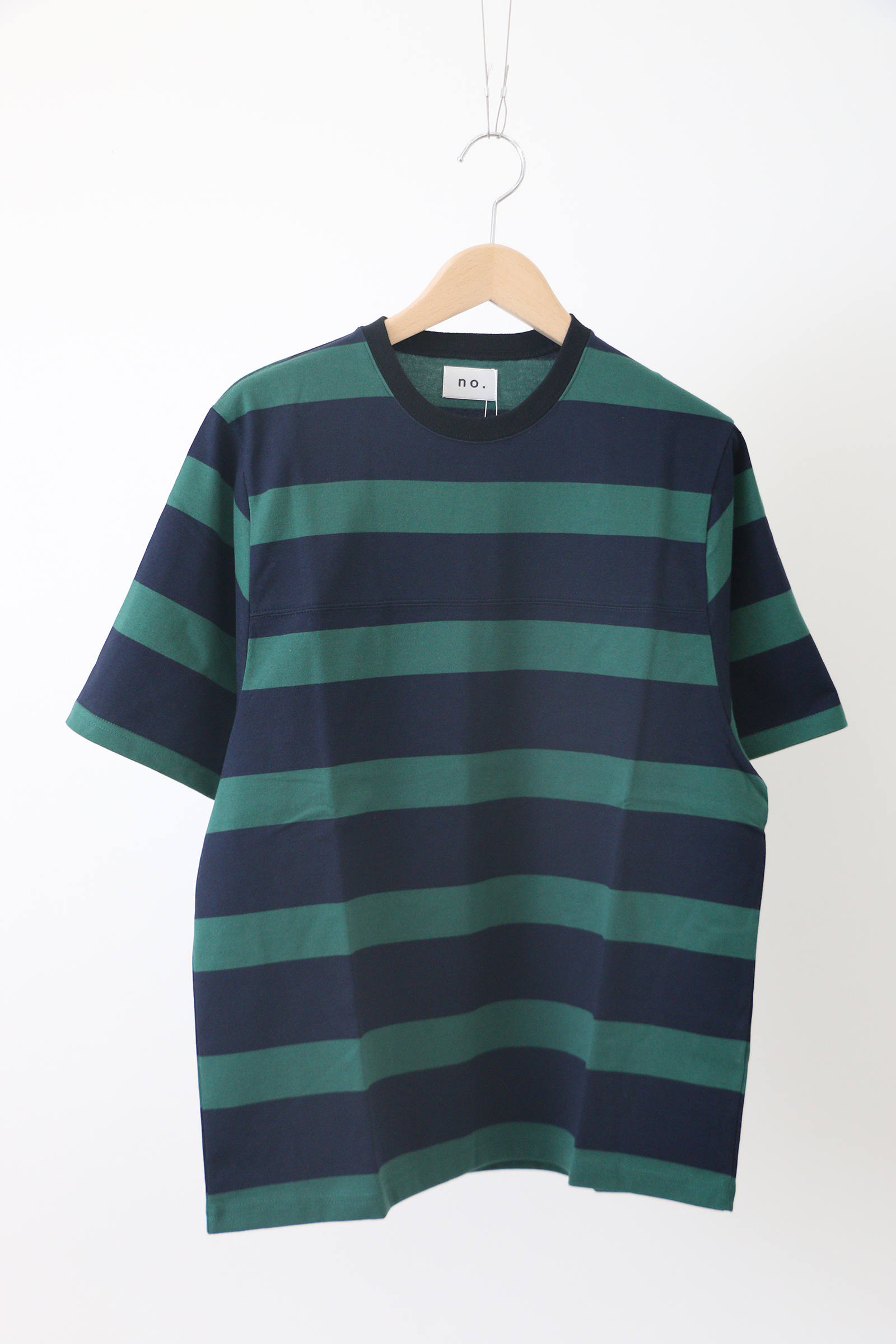 「即日発送可能!!」no. BORDER GAME TEE NAVY x GREEN