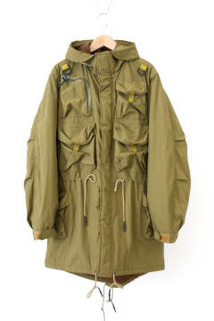 「ラスト1点!!」「即日発送可能!!」bal MULTI POCKET FISHTAIL COAT MUSTARD
