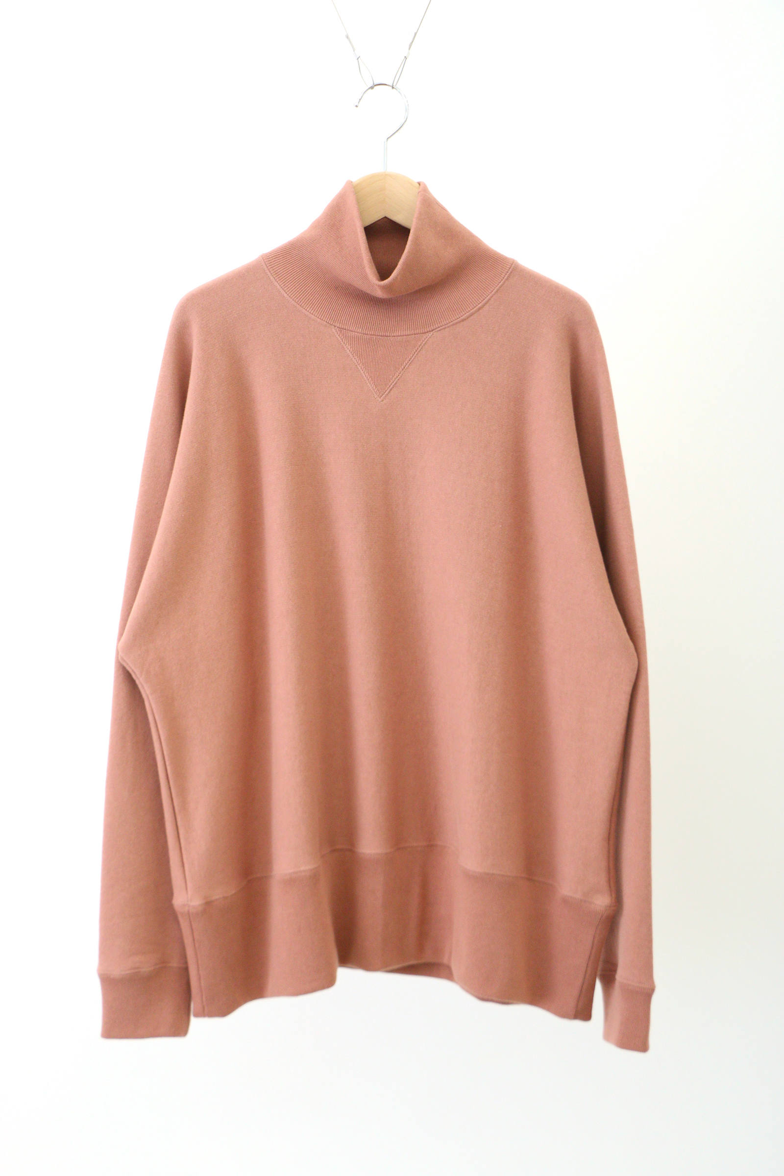 「ラスト1点!!」「即日発送可能!!」bunt LOOP WHEEL HI NECK SWEAT SHIRTS CORAL
