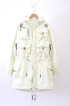「ラスト1点!!」「即日発送可能!!」」bal MULTI POCKET FISHTAIL COAT BONE