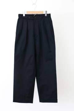 「ラスト1点!!」「即日発送可能!!」ULTERIOR BIZEN No.1 TWILL TUCKED MILITARY PANTS MIDNIGHT