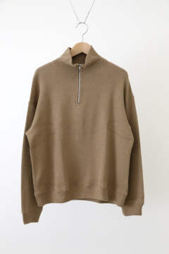 「即日発送可能!!」bunt REVERSE SWEAT HALF ZIP SHIRTS Brown