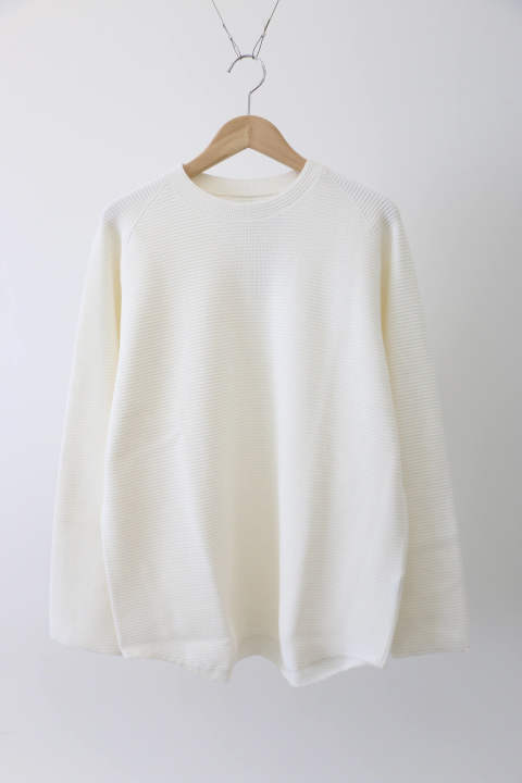 「ラスト1点!!」「即日発送可能!!」KIIT Cotton Strech Waffule L/Sleeve Tee OFF WHITE