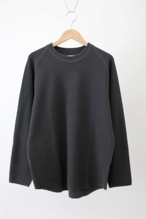 「即日発送可能!!」KIIT Cotton Strech Waffule L/Sleeve Tee CHARCOAL