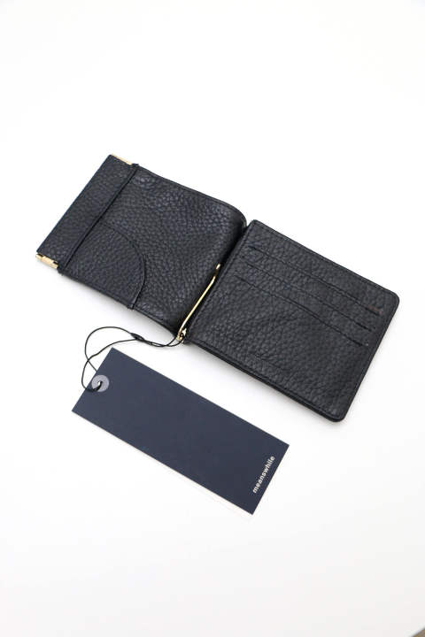 「即日発送可能!!」meanswhile Leather Money Clip Off Black