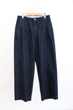 「即日発送可能!!」UNIVERSAL PRODUCTS NO TUCK WIDE DENIM PANTS INDIGO