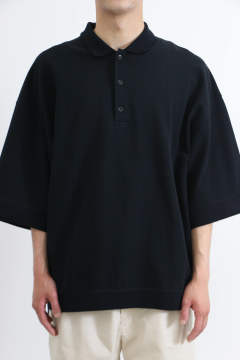 「ラスト1点!!」「即日発送可能!!」VOAAOV Pique Big Polo Pullover Black